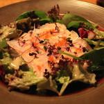 デュ バリー - レンコ鯛のカルパッチオ サラダ仕立て (アンチョビ風味のシャキシャキのジャガイモ添え)