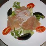 上海菜館 龍華 - 生ハムと皮蛋のサラダ