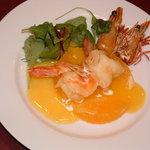 上海菜館 龍華 - 大海老のオレンジ風味(桔味対蝦)