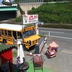 タビカフェトリッパーズ - ロンドンバス二階から見える敷地・・・