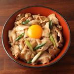 四ツ谷鐵一 - 【男飯】スタミナ豚丼 秘伝のにんにく醤油だれで焼き上げた逸品