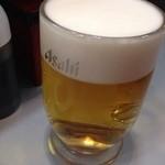 立喰 さくら寿司 - 「生ビール大」450円