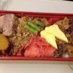 時空割烹 沙羅 - 近江牛100% 牛しぐれ寿司と肉味噌重!1000円!