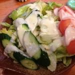 じゅうべえ - サラダゎ豆腐サラダとシーフドサラダがあるけど、頼んだのは豆腐サラダの豆腐抜きだよ!