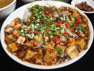 台湾料理故宮 - 【ランチ限定】麻辣豆腐飯、700円