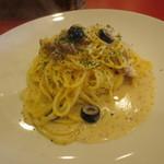 トラットリア イ・ルミナーレ - 鶏とブラックオリーブのマスタードソース