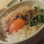 さかなや晴レ - シメの卵ごはん。量も味もバランスよいです。