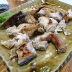 鶏海山の幸おかだ - 【H25.9.21】特大若鶏塩焼1600円。