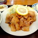 Miyoshishokudou - 焼肉定食(並)豚バラ