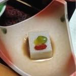 21506583 - 栗豆腐の栗ソース掛け