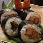 ふぁみり~居酒屋ゆもちゃん 鈴蘭台本店 - コースの海老フライ巻き寿司