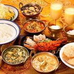 本格インド料理 MINA - 料理写真:カップルセット。カレーは2種から選べます。