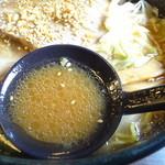 らぁめん銀波露 - 醤油スープアップ