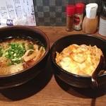 21508531 - Cランチ 比内地鶏のミニ親子丼と特製らーめん(醤油味)