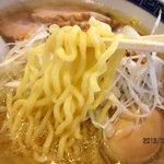 麺屋こはく - 自家製の中太麺は、かなりもっちりとした麺!(2013,9/22)
