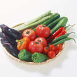 無農薬野菜をはじめ、新鮮な野菜を使っています。