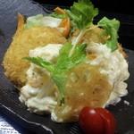 山陰旬華 新鮮組  - 自家製かにクリームコロッケ。料理長のこだわりの逸品。かに味噌入りです!
