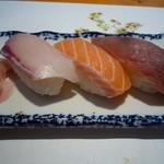 秀吉 - 握り3種(お昼のミニ会席)