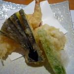 秀吉 - 天ぷら4種(お昼のミニ会席)