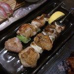 魚魚家 - 「ねぎま 塩」 120円x2本