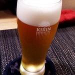 月の香 - 生ビール(キリン) 500円