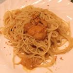 一汁三菜イタリア~の shark - ウニとサルディニア島産カラスミ入り ガーリックオイル