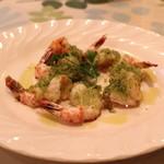 一汁三菜イタリア~の shark - 小エビのガーリック香草オーブン焼き