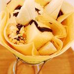 モンキークレープ - 料理写真:ナッツチョコバナナ