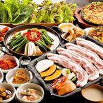 ヘルシー韓友家 - 鍋付のサムギョプサルコース2390円
