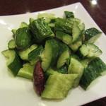 新長城 - キュウリの冷菜(\280-)