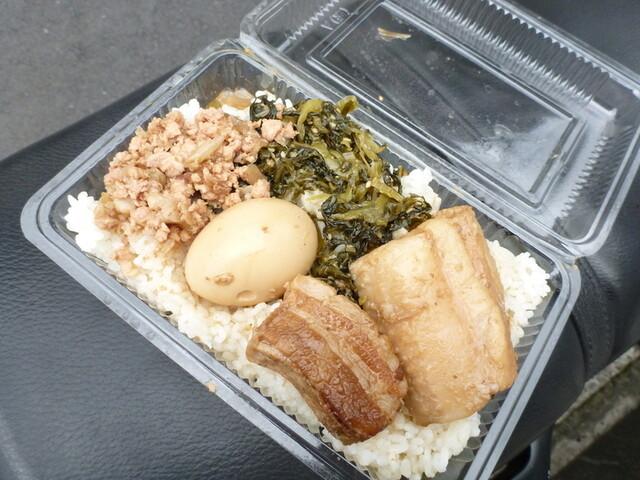 秀味園 - '13, Sep 魯肉飯500円 愛車のシートの上で、あはは!