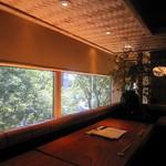 鎌倉 松原庵 欅 - 店内・窓からの眺め