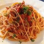 トスカーナ - 自家製ソーセージ入りトマトソースのスパゲティ