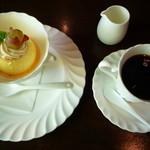 パレット - 料理写真:プリンセット 650円(ホットコーヒーをチョイス)
