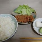 21527539 - 定食のセット。小皿は豚肉の中華風照り焼きを選んでみた(^o^)