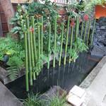 21528390 - 広島県の行事で中秋の名月の頃に竹に花等をさし秋の実りに感謝の意を込めるそうです