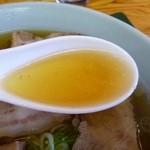 樺太屋 - 2013.09チャーシューメンのスープ