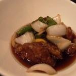 中国料理 桃翠 - 黒酢のあぐ~酢豚