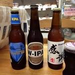 鬼頭商店「リデンテ」 - 真ん中が日本の至宝「箕面ビール・W-IPA」