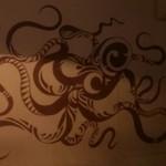 池坊 - タコの壁画