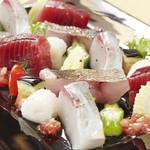 海の厨 膳丸 - 魚介の厚切りカルパッチョ