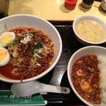 21537790 - 汁なし坦々麺と麻婆丼