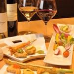 神戸串あげ SAKU - 料理写真:サラダは珍しい生野菜も登場、串あげとの相性は最高