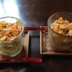 21540154 - 抹茶とほうじ茶アイス