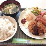 ふくだ - コロッケA定食 550円