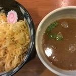 まるとも - つけ麺(トッピング:辛ネギ)
