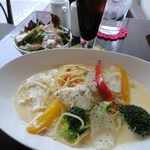 Spuma Dining Dessert - クリームパスタ