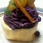 おかしの千秋庵 - 紫芋のモンブラン