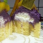 おかしの千秋庵 - 紫芋のモンブラン 割面