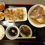 21545651 - イカかき揚げ鯛かぶと煮あなご煮¥650